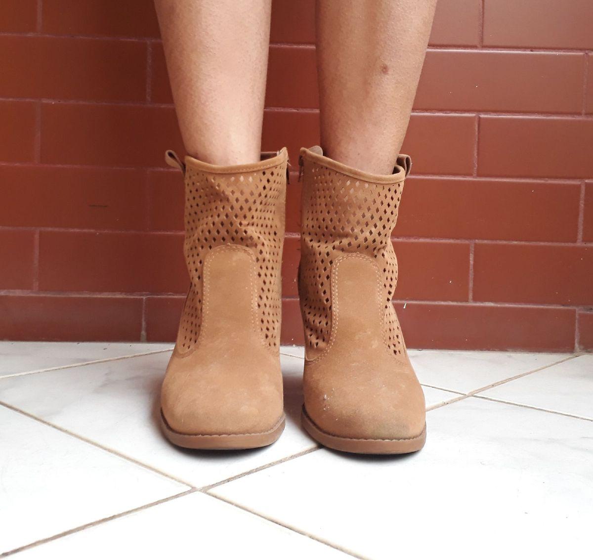 botinha moleca - botas moleca