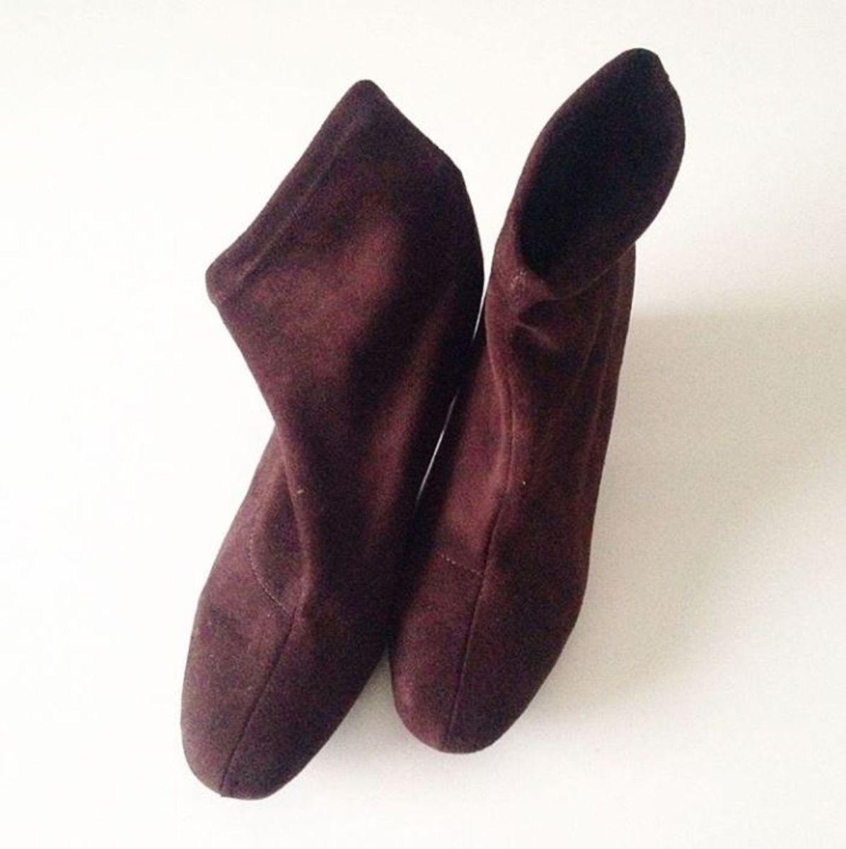 botinha suede marrom - botas sem marca