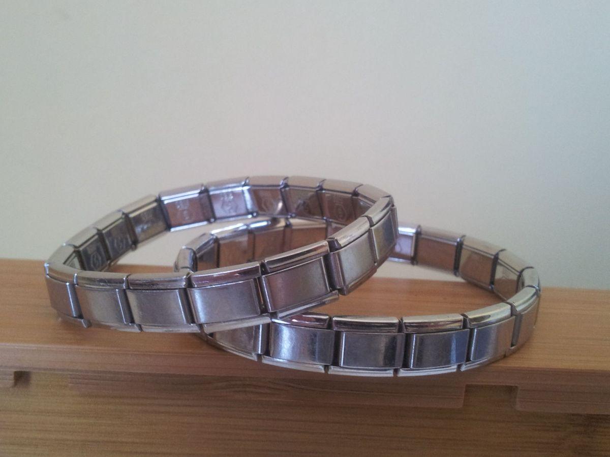 braceletes aço - bijoux sem marca