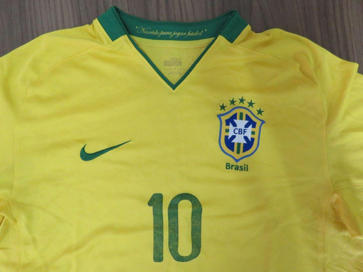 Brasil Camisa Original Nike Ano 2008  80a72caf99464