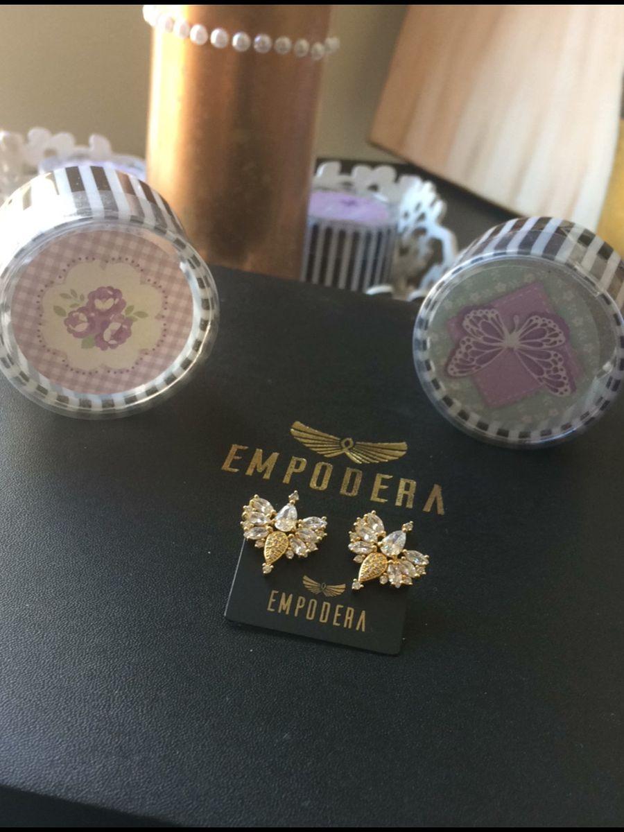 brinco borboleta chique - jóias empodera