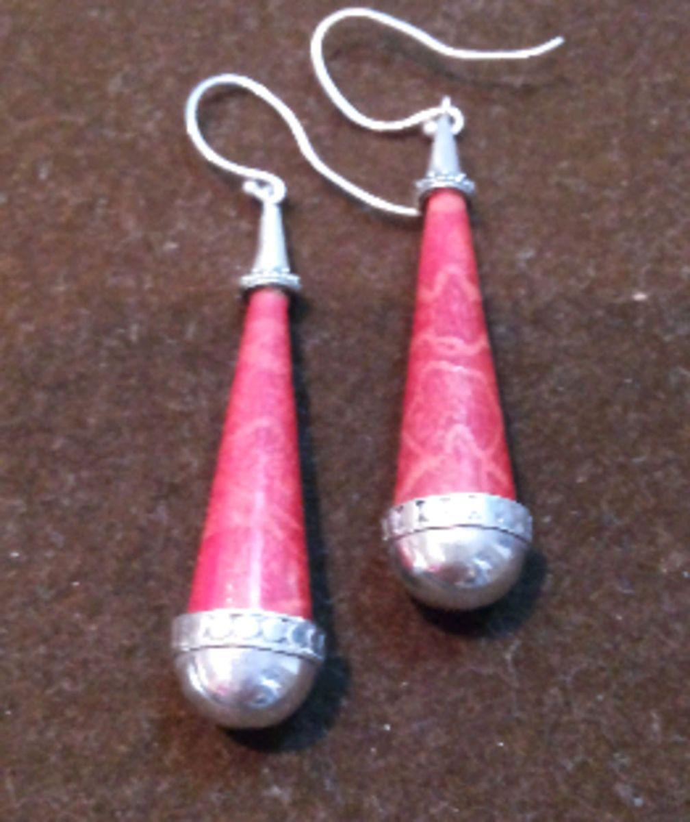 Brinco em Prata 925 com Pedra Vermelha   Jóia Feminina Usado ... e1b7293a38