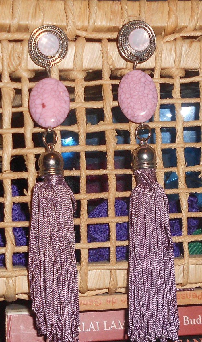 brinco franjas - bijoux sem marca