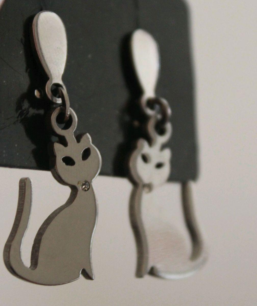 brinco gatinho - bijoux sem marca