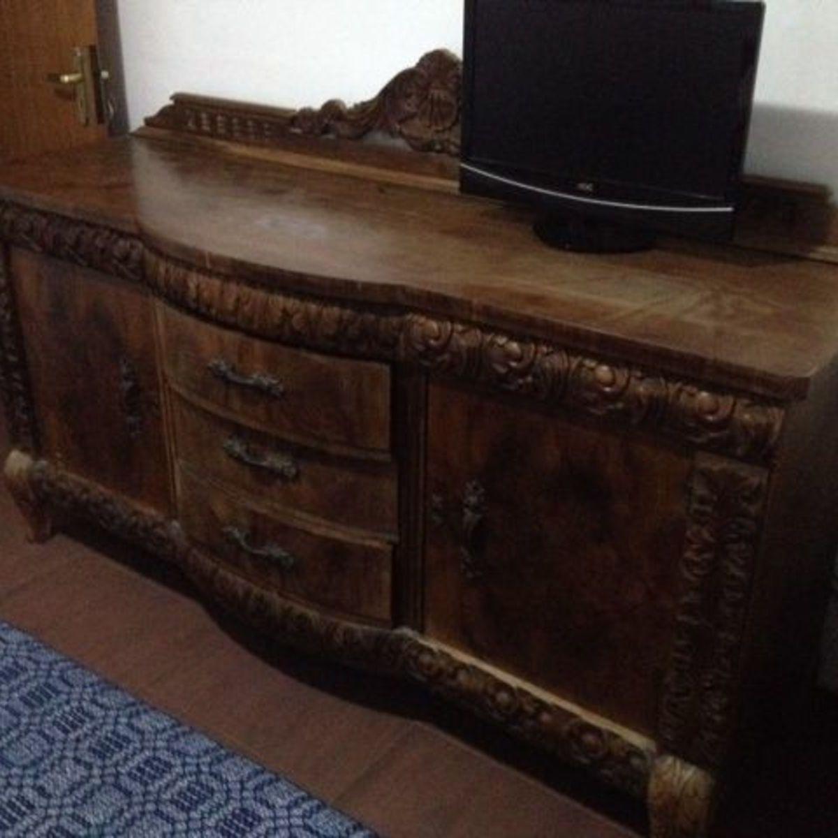 Buffet Antigo Madeira | Móvel de Antiquário Usado 548543 ...
