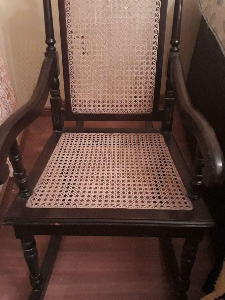 Cadeira De Balanco Antiga Da Vovo Cadeira Madeira Macica Usado 38271788 Enjoei