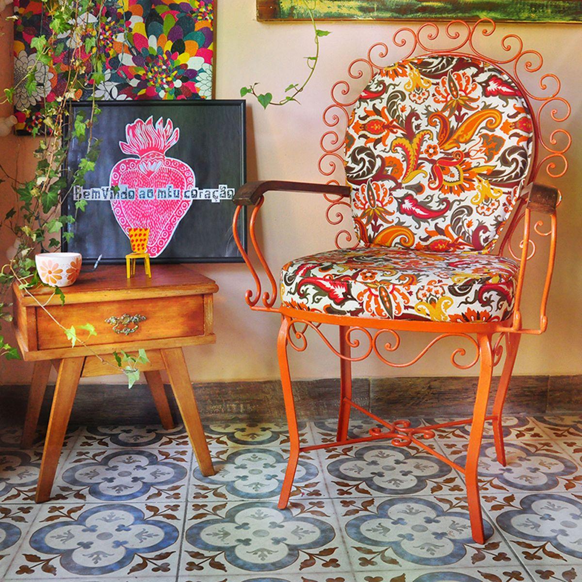 cadeira de ferro - jardim - vintage - decoração ie yeah