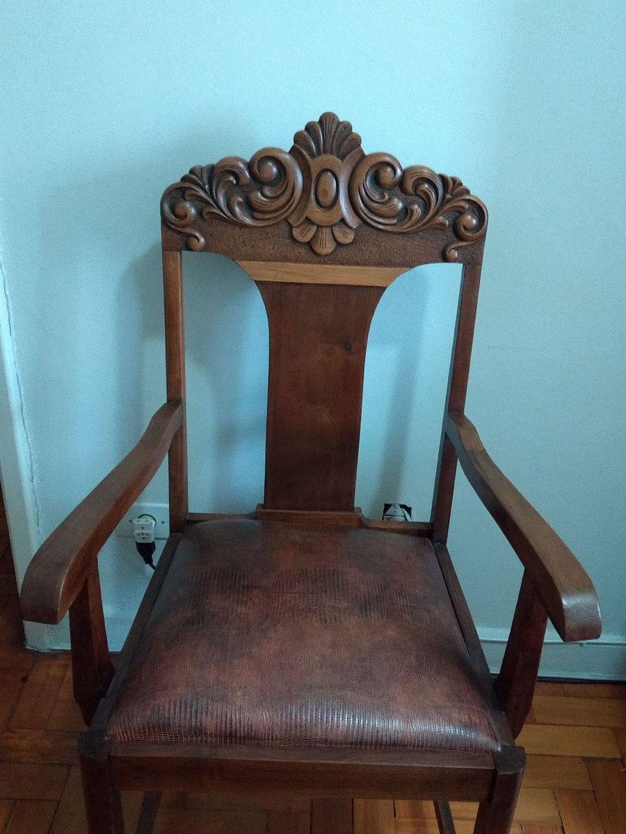Image of: Cadeira De Madeira Antiga Cadeira Cadeira Usado 43243301 Enjoei