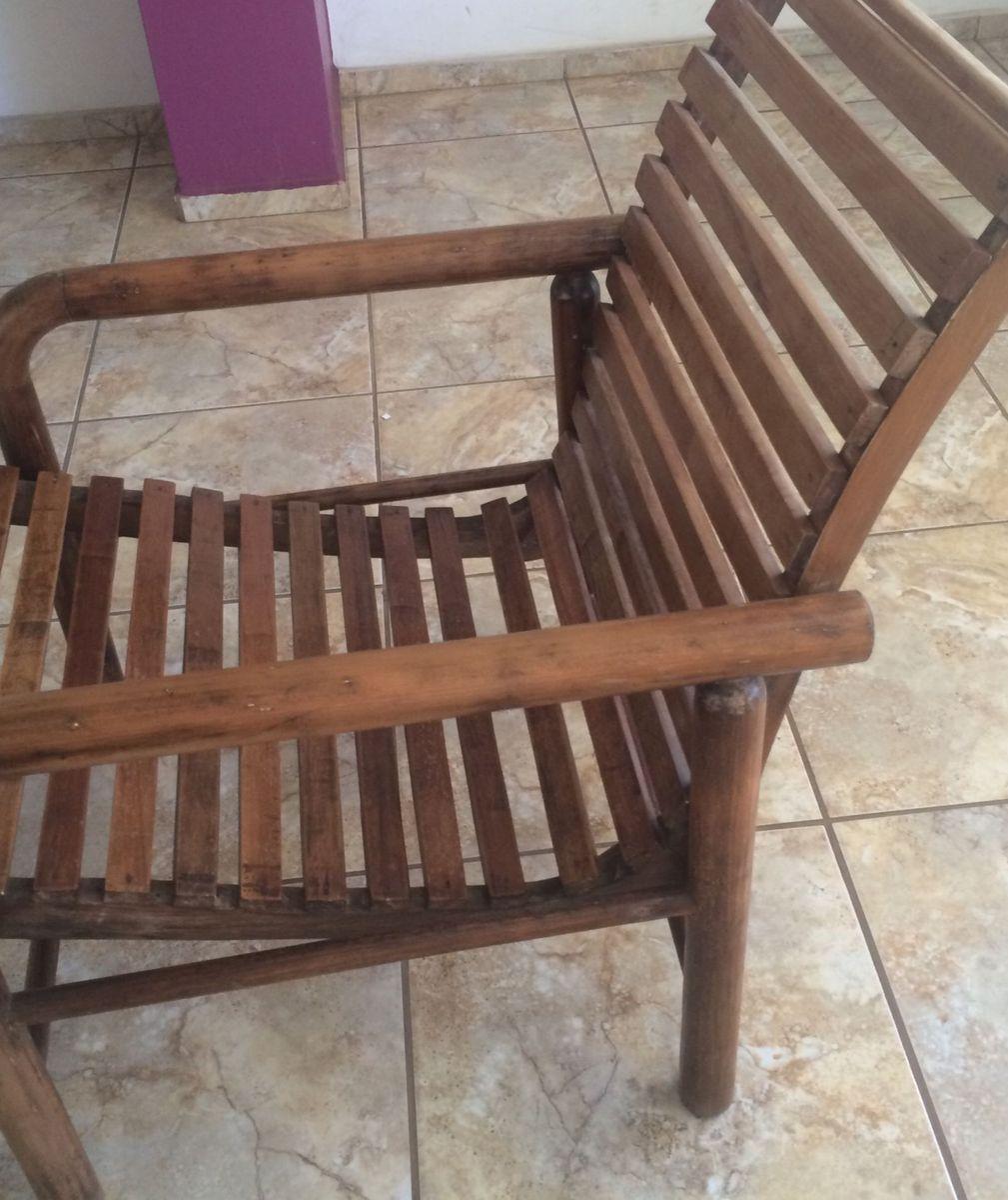 Image of: Cadeira Poltrona De Madeira Macica Cadeira Cadeira Antiga Usado 14557805 Enjoei
