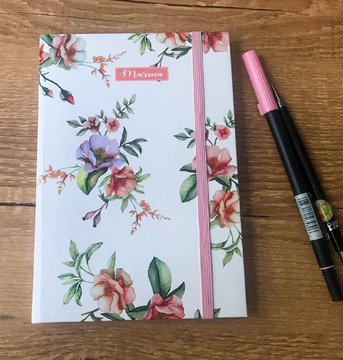 caderno de anotações tipo moleskine capa em aquarela - papelaria aquare.linhas