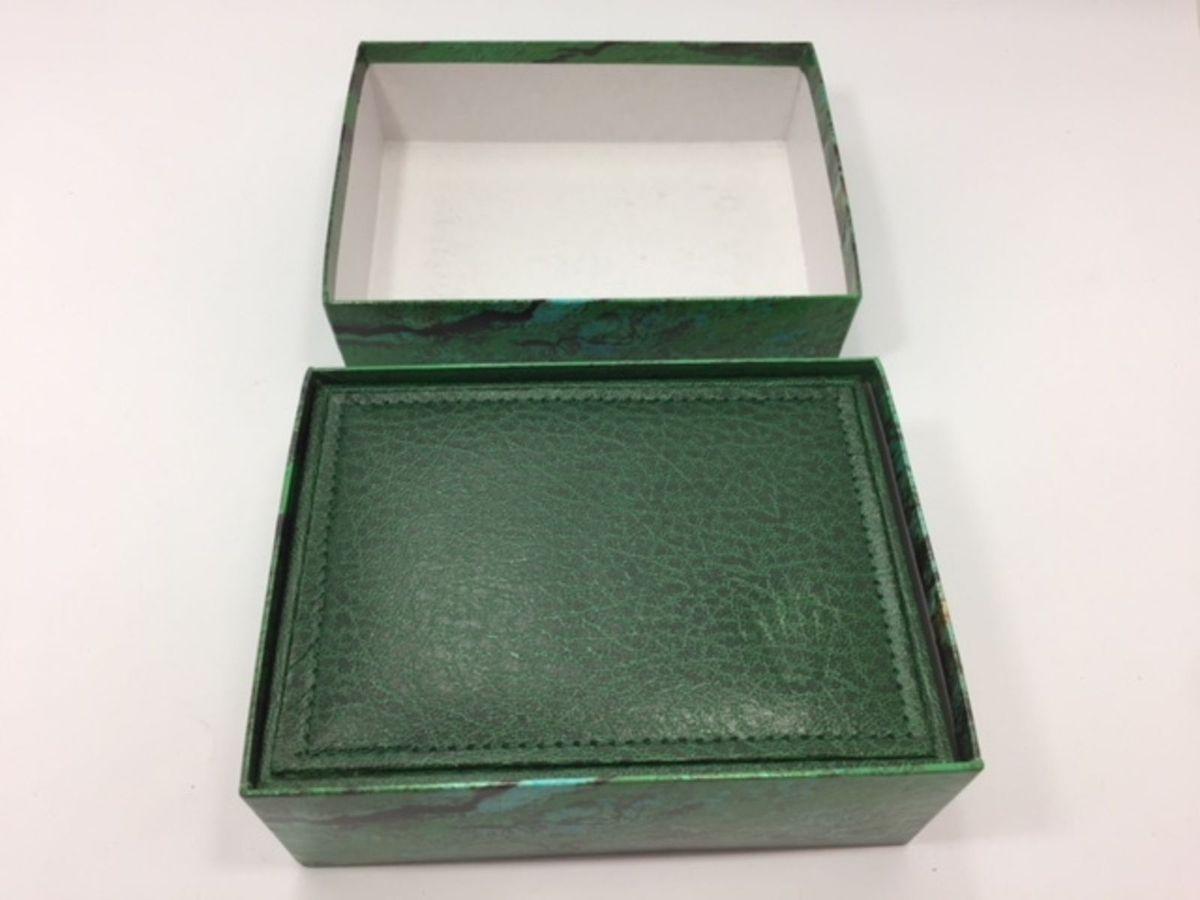20b2be9a740 Caixa para Relógio Rolex Verde Tradicional