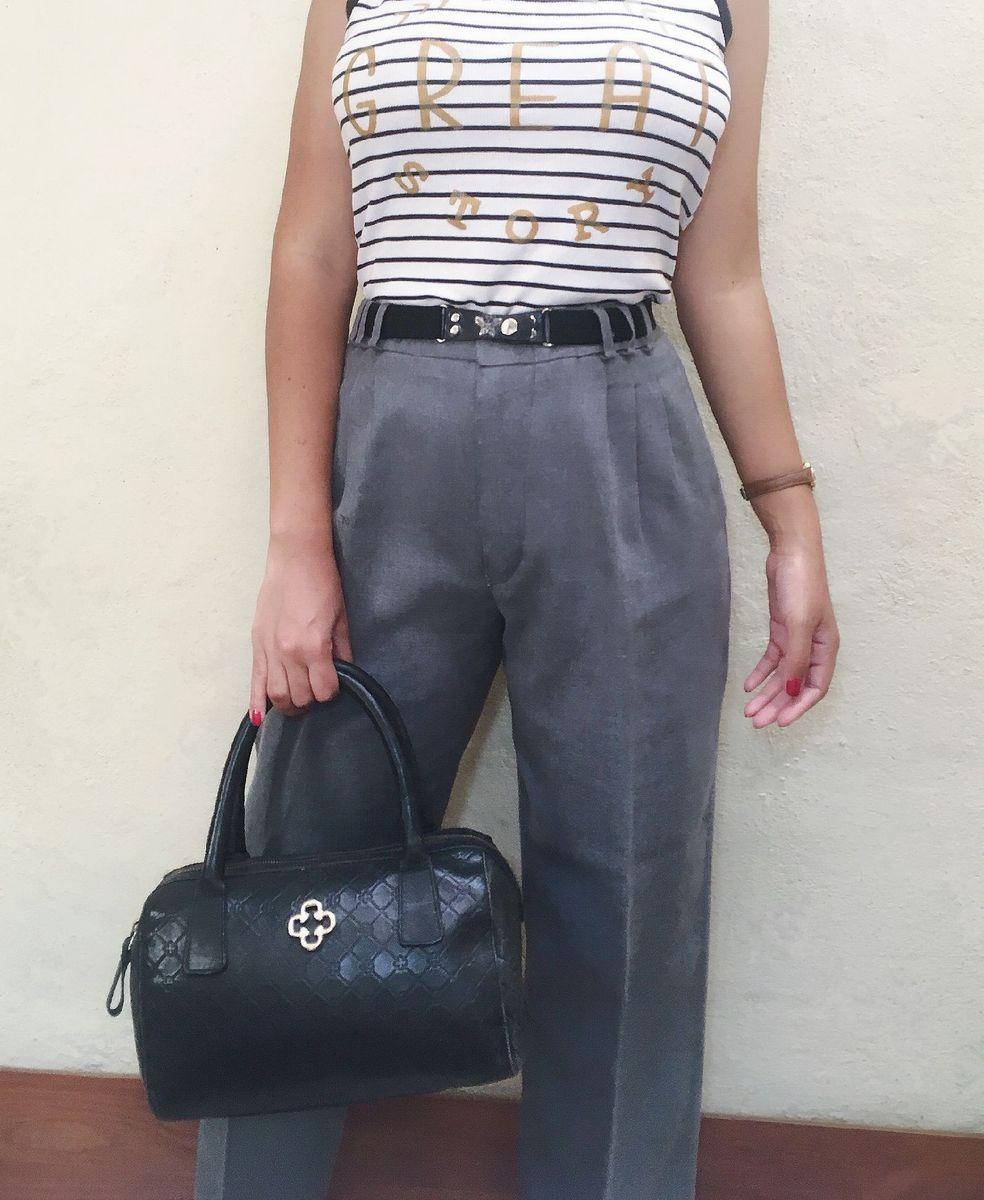 calça alfaiataria cintura alta - calças sem marca