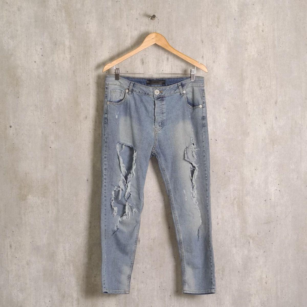 calça azul destroyed animale - calças animale