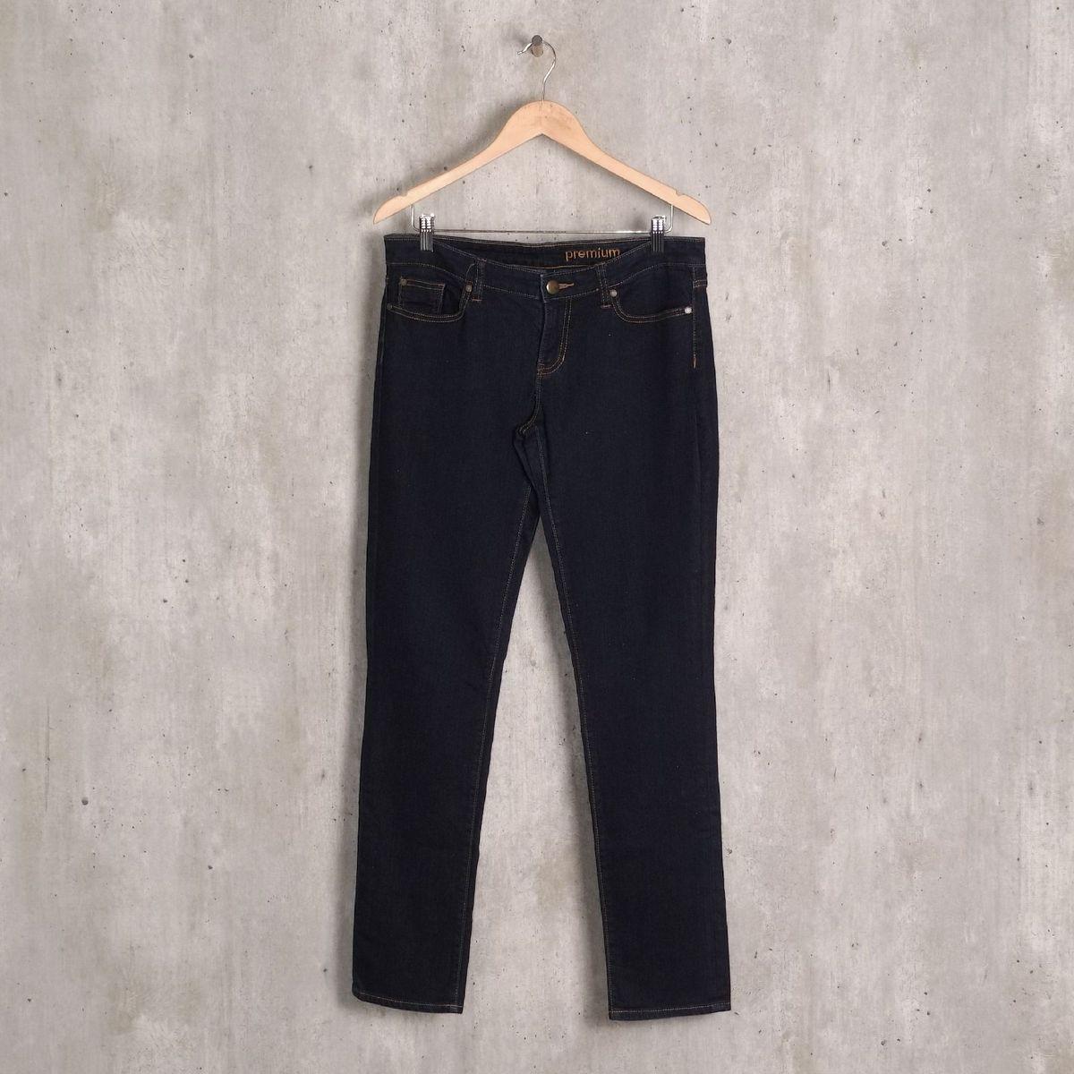 calça azul escura jeans gap - calças gap