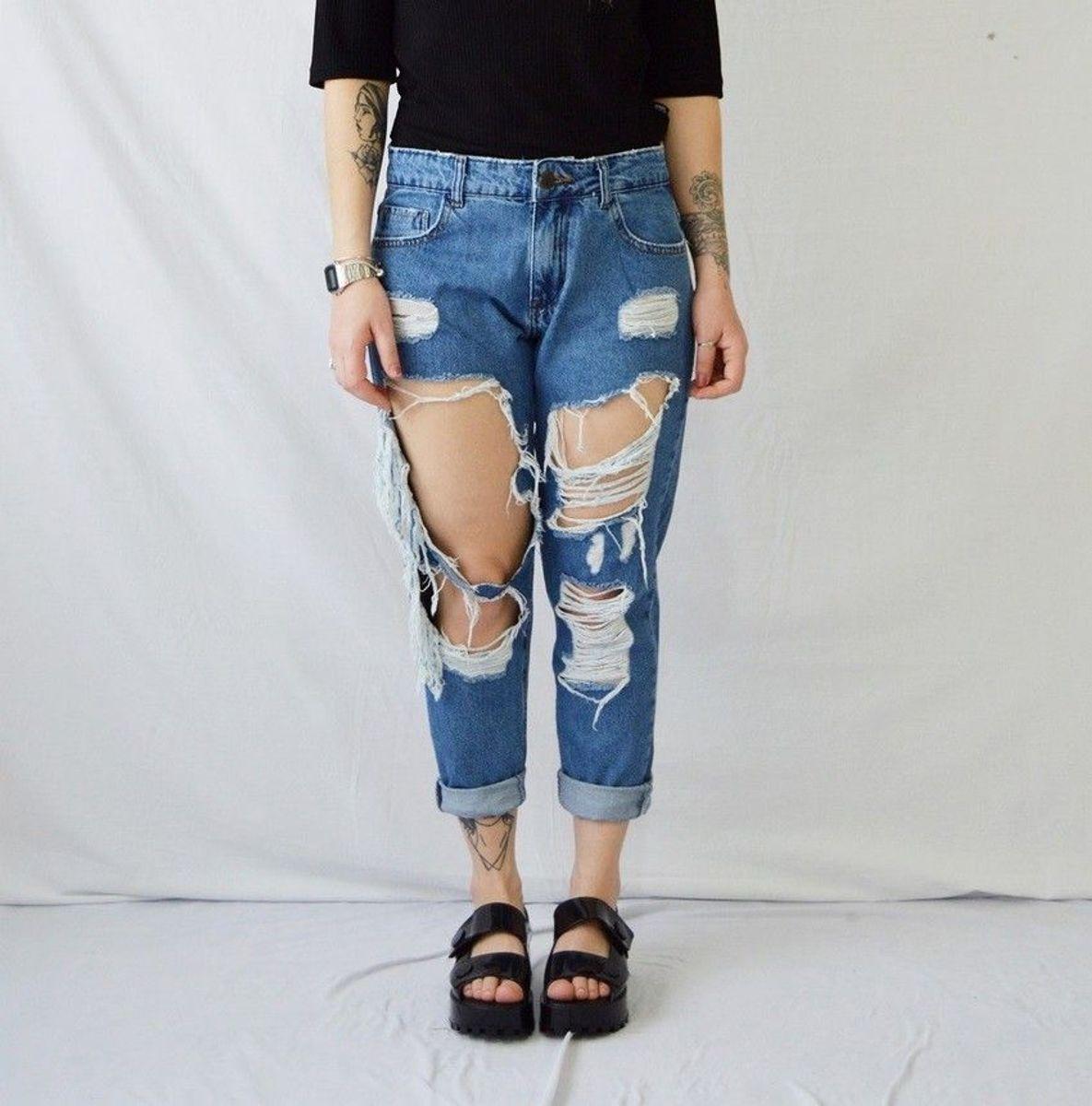 calça boyfriend - calças sem marca