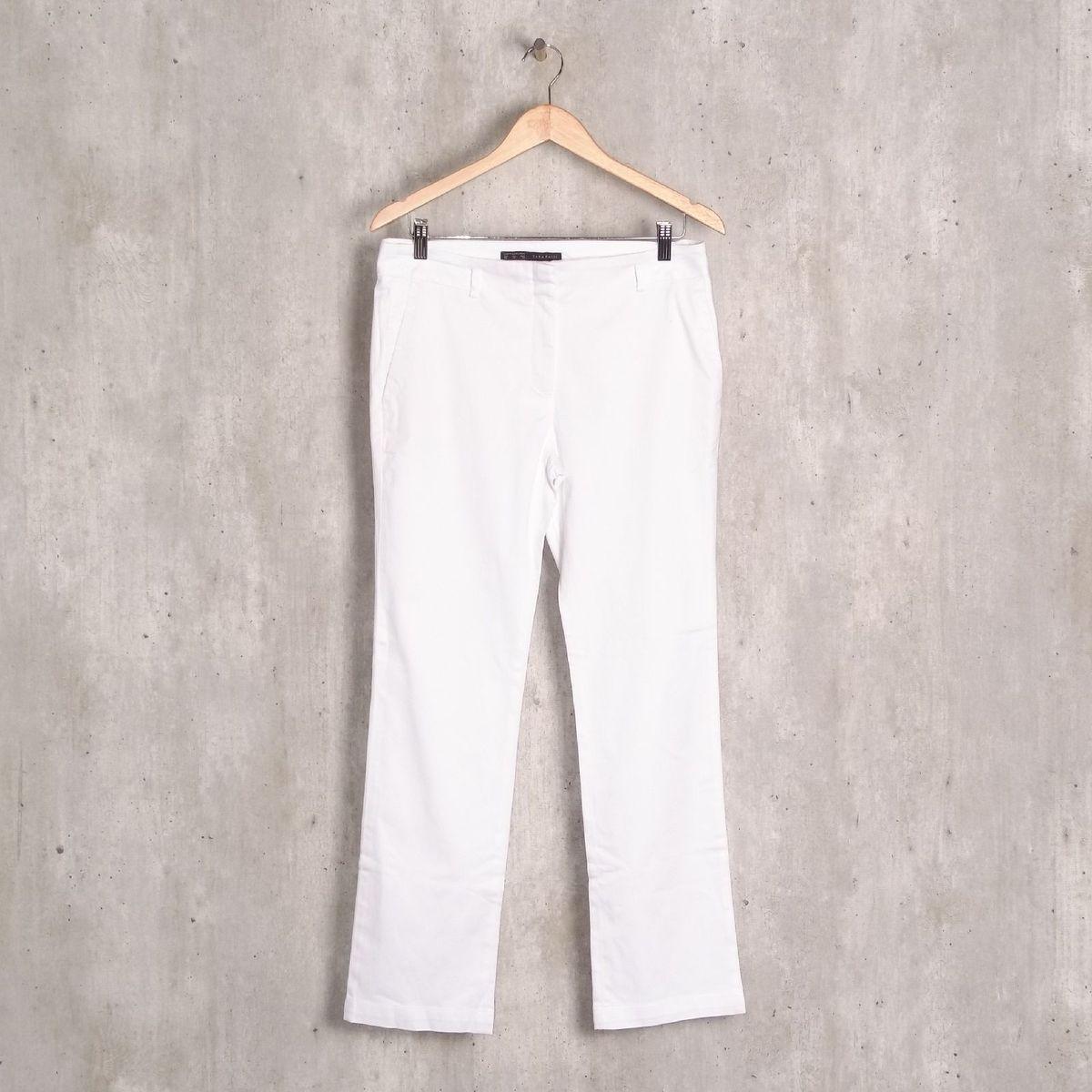 calça branca bolso faca zara - calças zara