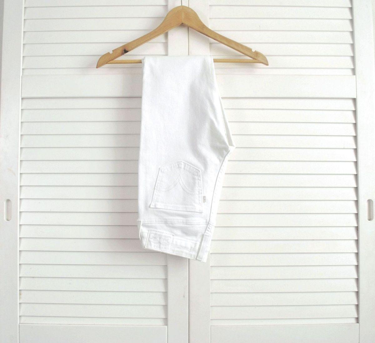 calça branca levis super skinny - calças levi's