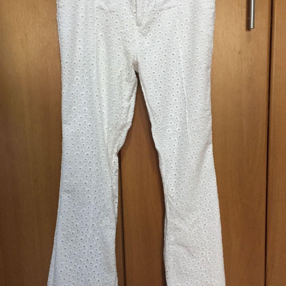 93cf6ed52 Calça Branca Pantalona