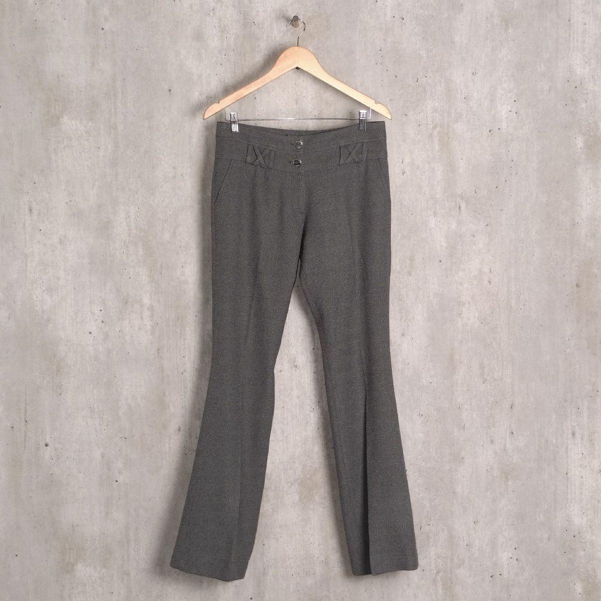 calça cinza mesclada brooksfield - calças brooksfield