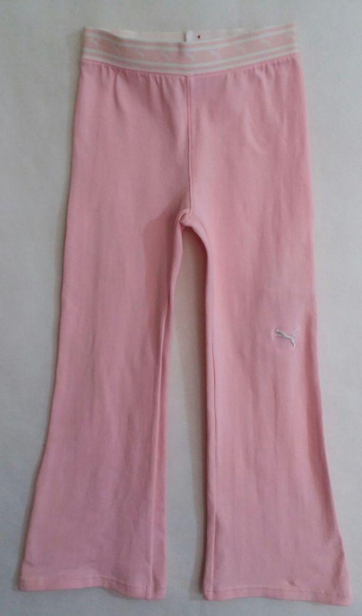 9409f29f911 calca de malha rosa infantil da marca puma! - menina puma