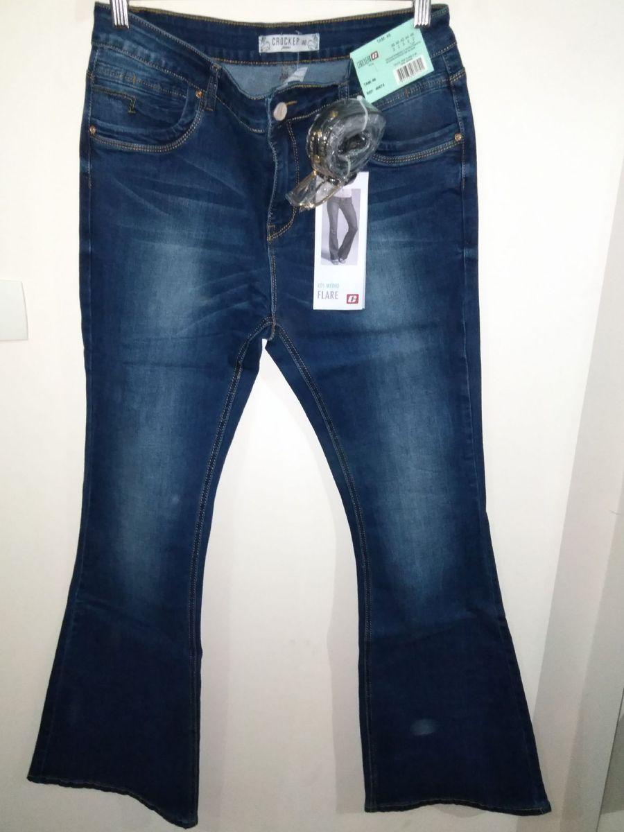 calça flare jeans tamanho 46 - calças crocker jeans