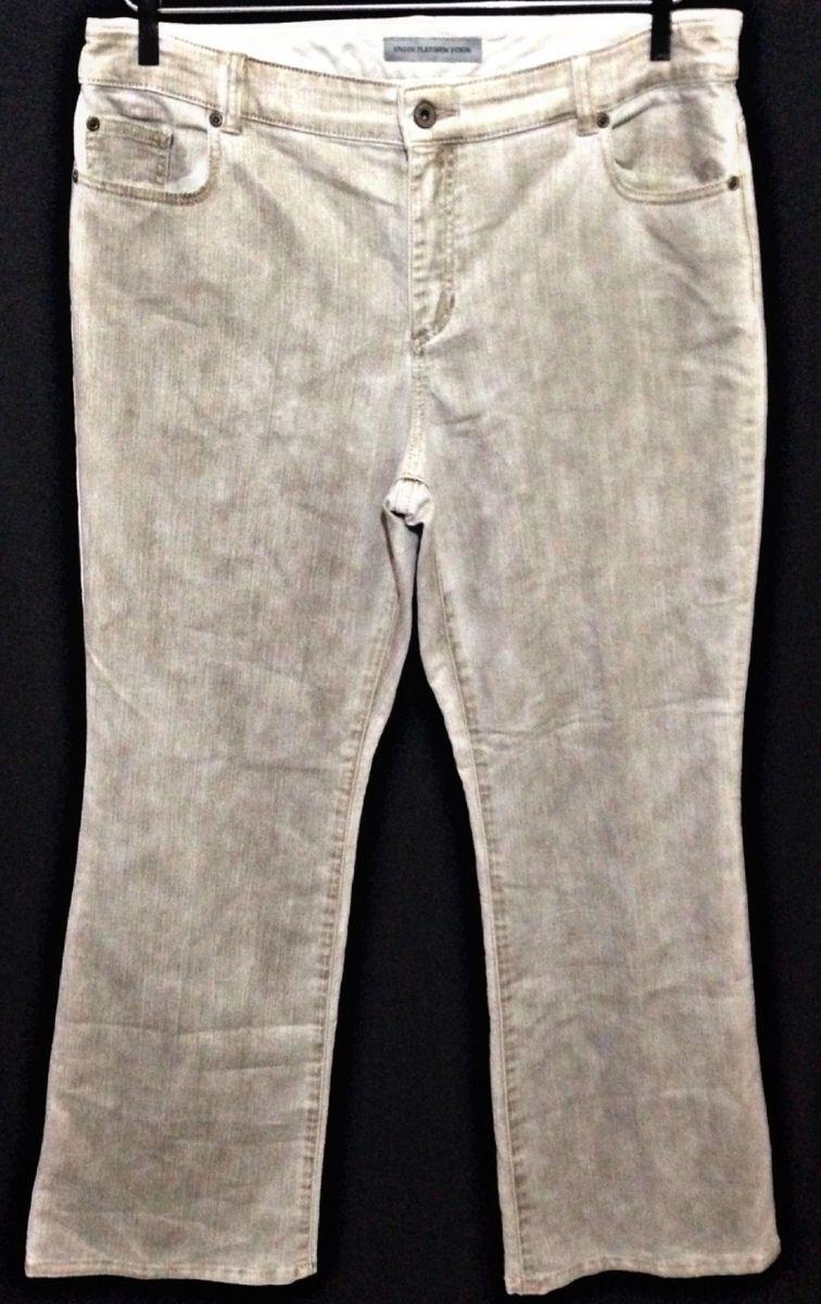 23a88c99d calça flare stretch feminina chico's importada tamanho 48!!!! - calças  chico's importada