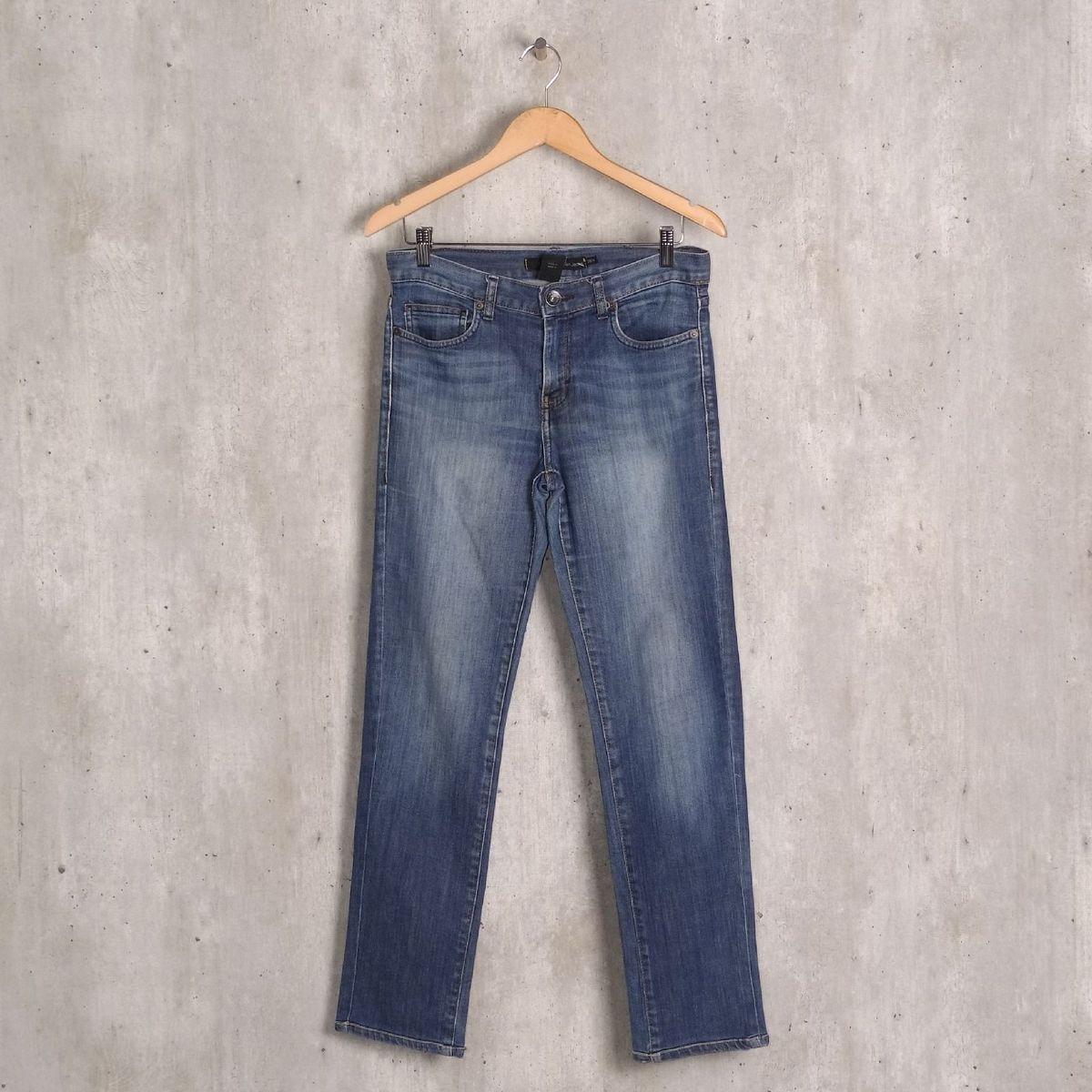 calça jeans azul básica calvin klein - calças calvin klein