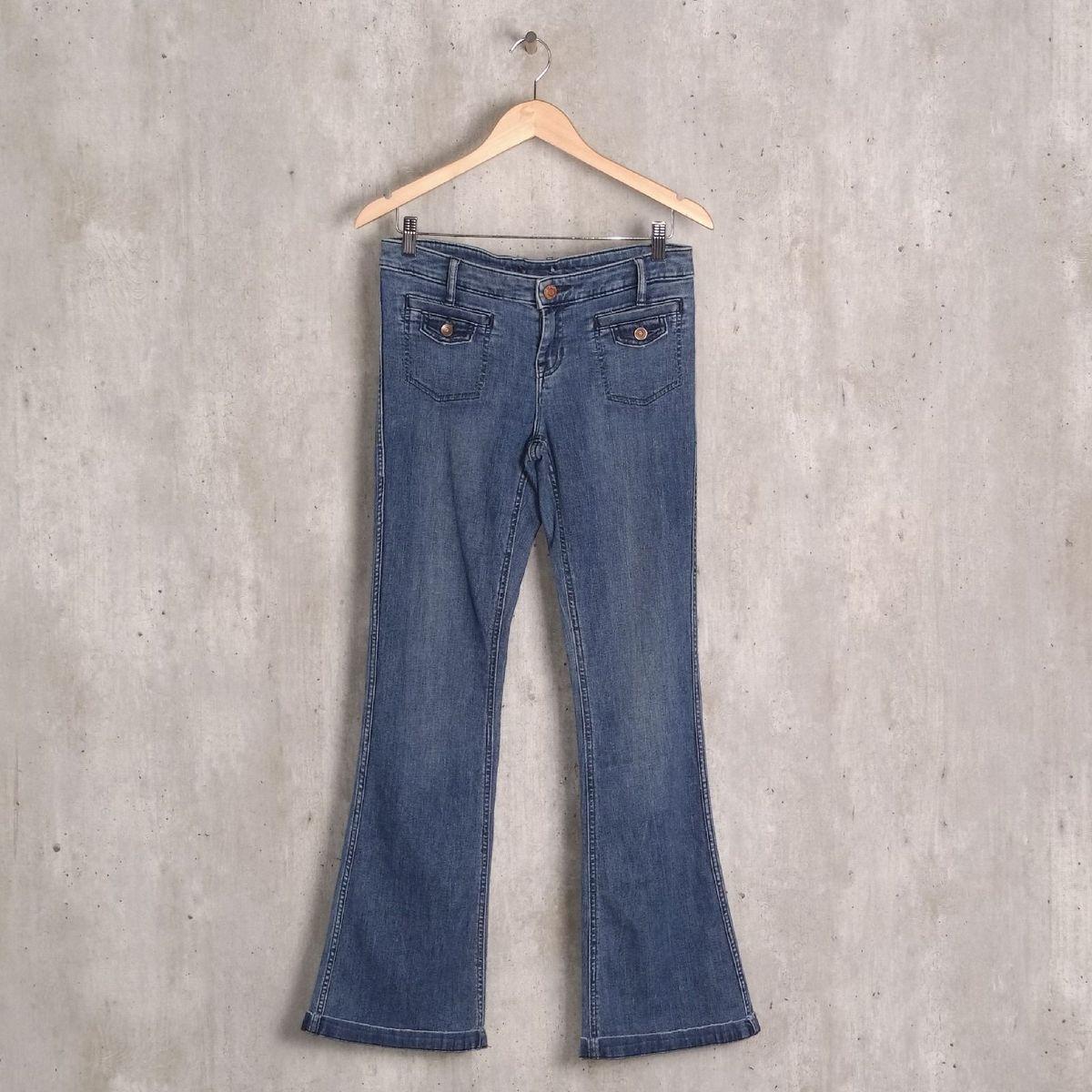 calça jeans azul gap - calças gap