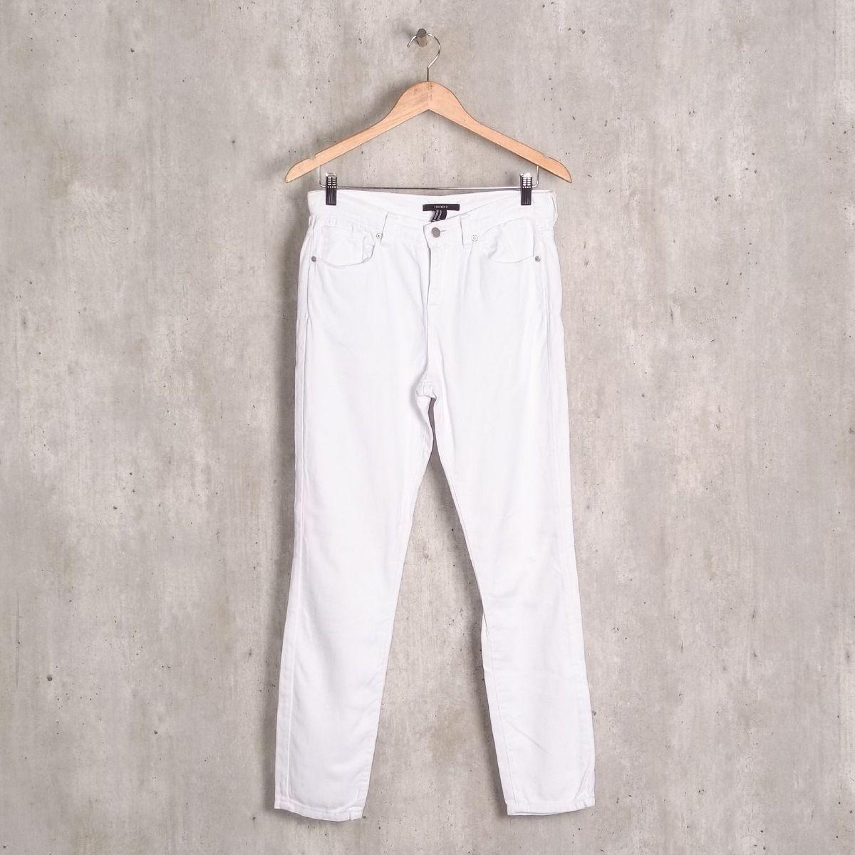calça jeans branca forever 21 - calças forever21