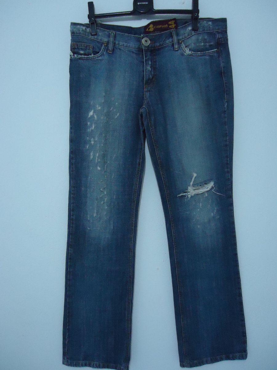 calca jeans canal concept destroyer - calças canal