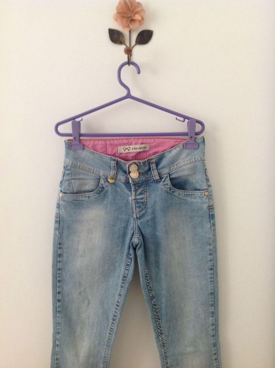 calça jeans checklist - calças checklist