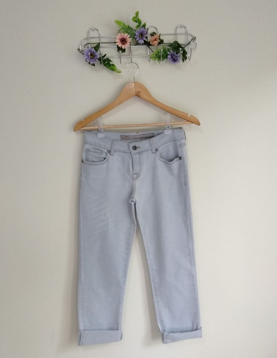 calça jeans cintura alta - calças sem-marca