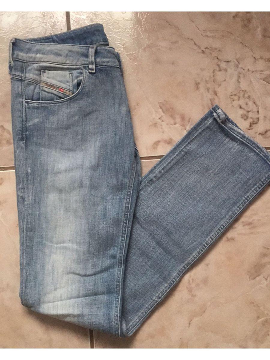 calça jeans clara diesel - calças diesel