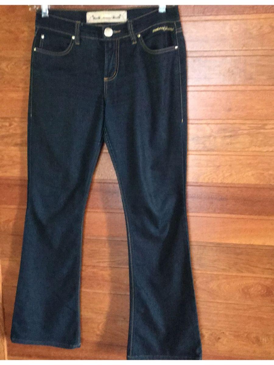 495271f43 calça jeans com elastano colcci azul escura flare cintura média tamanho 40  - calças colcci