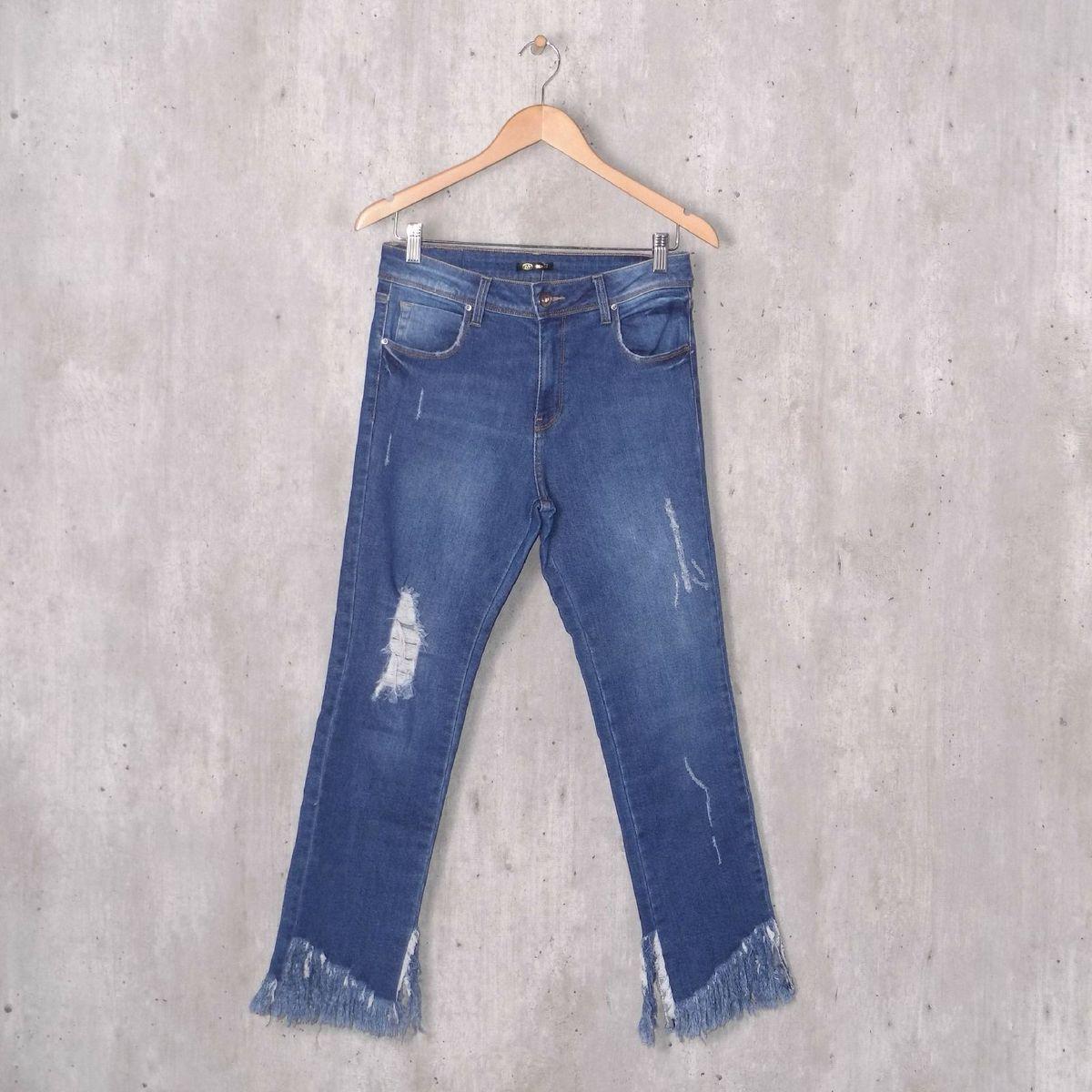 c4104d66e Calça Jeans Destroyed | Calça Feminina Multi Ponto Denim Usado 32982735 |  enjoei