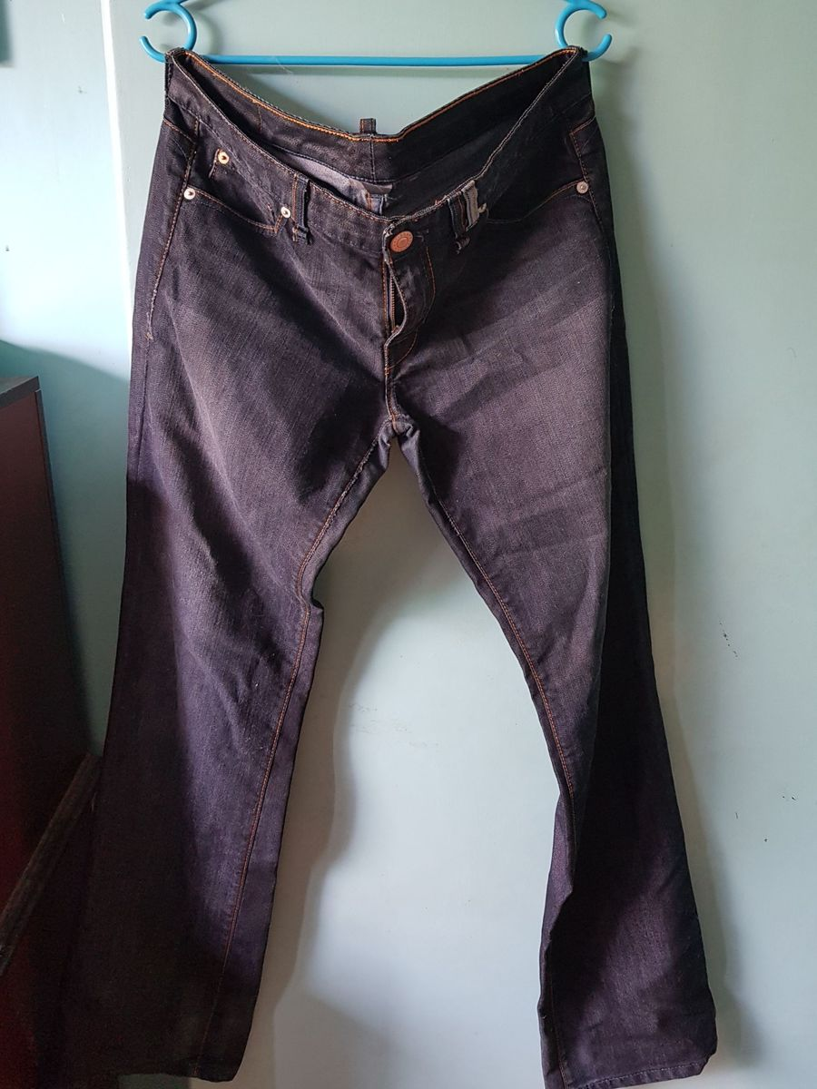 calça jeans escuro armani exchange - calças armani-exchange