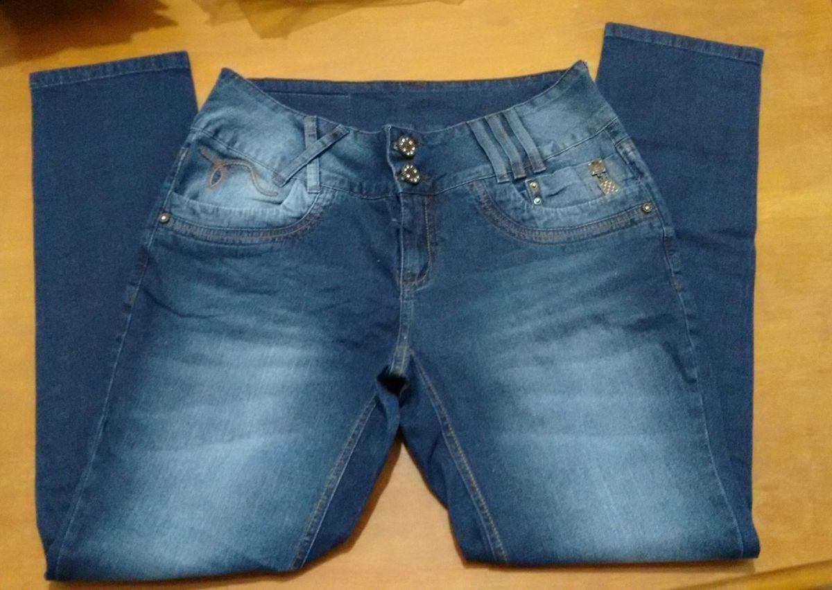3f2ee39c5 calça jeans feminina emporio cigarrete, cos alto, 44 - calças emporio