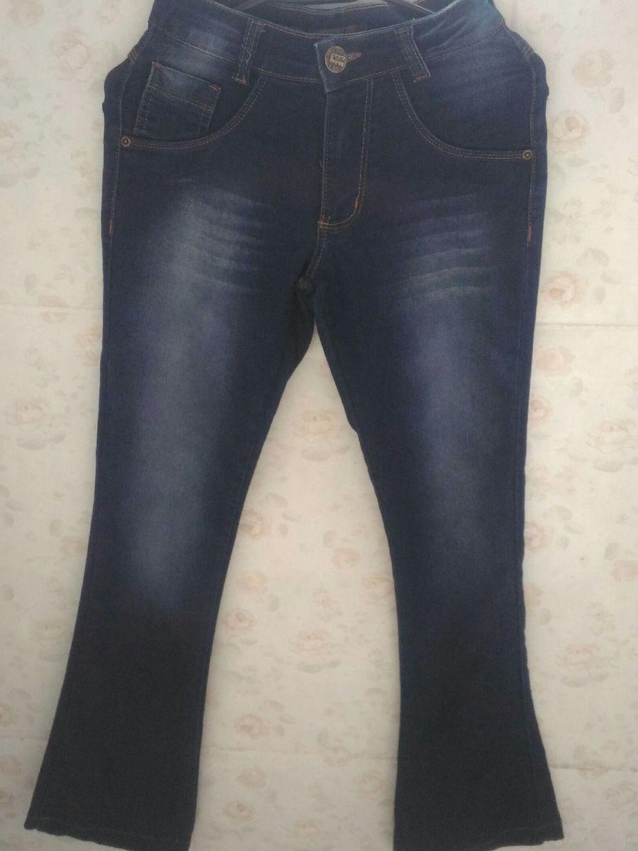 calça jeans flare - calças sem marca