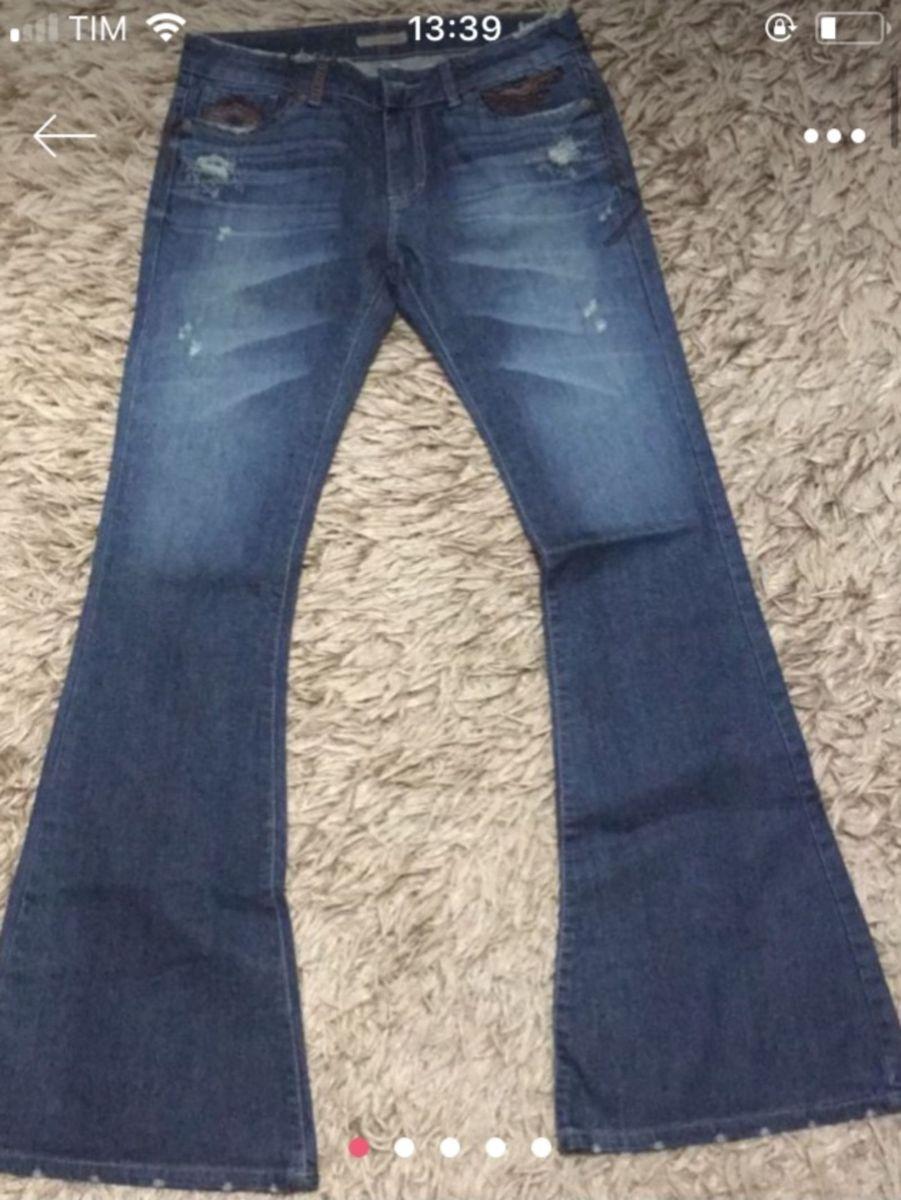 f5e07ea07 calça jeans lelisblanc - nova - original - tam 38 - lavagem escura - flare -