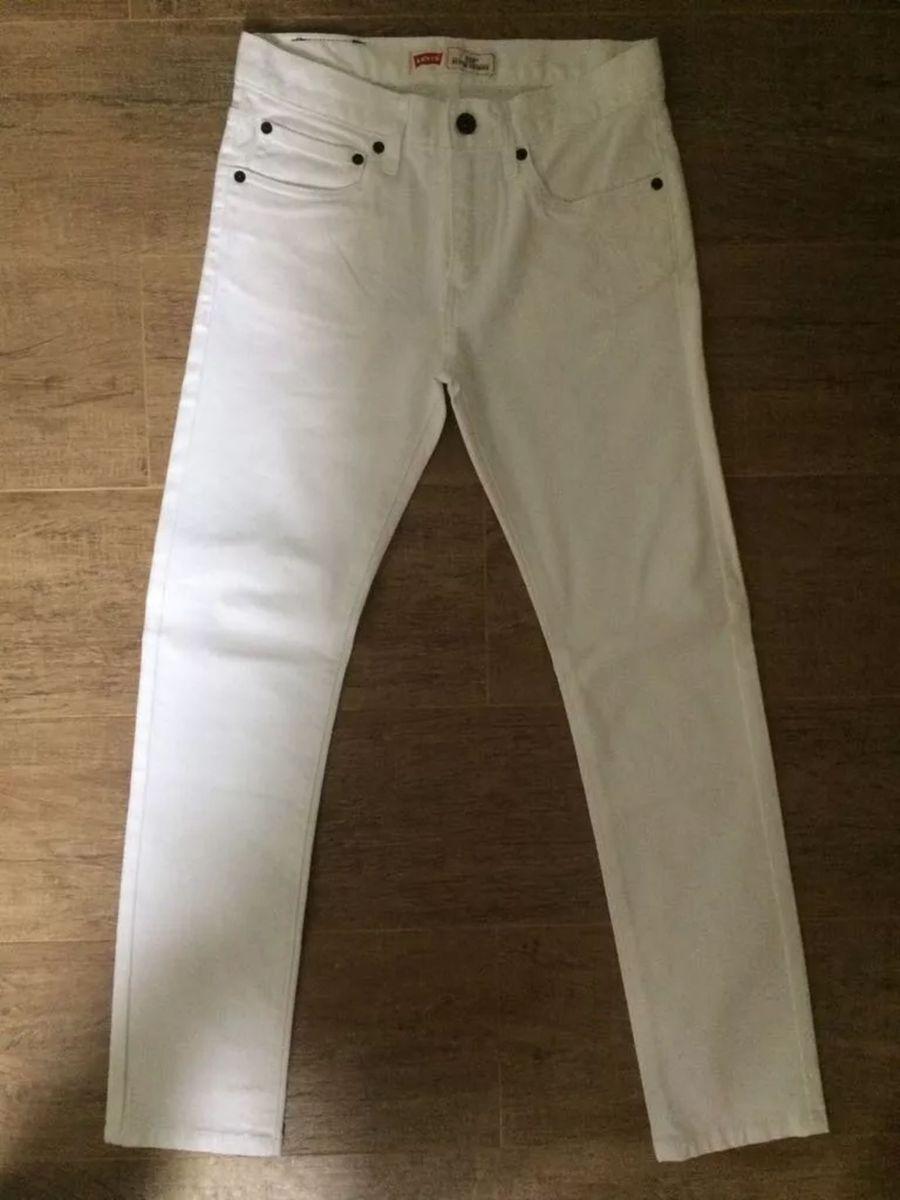 a11c4ac68c141 calça jeans levi s original 510 super skinny - branca tam 36 - calças levi s