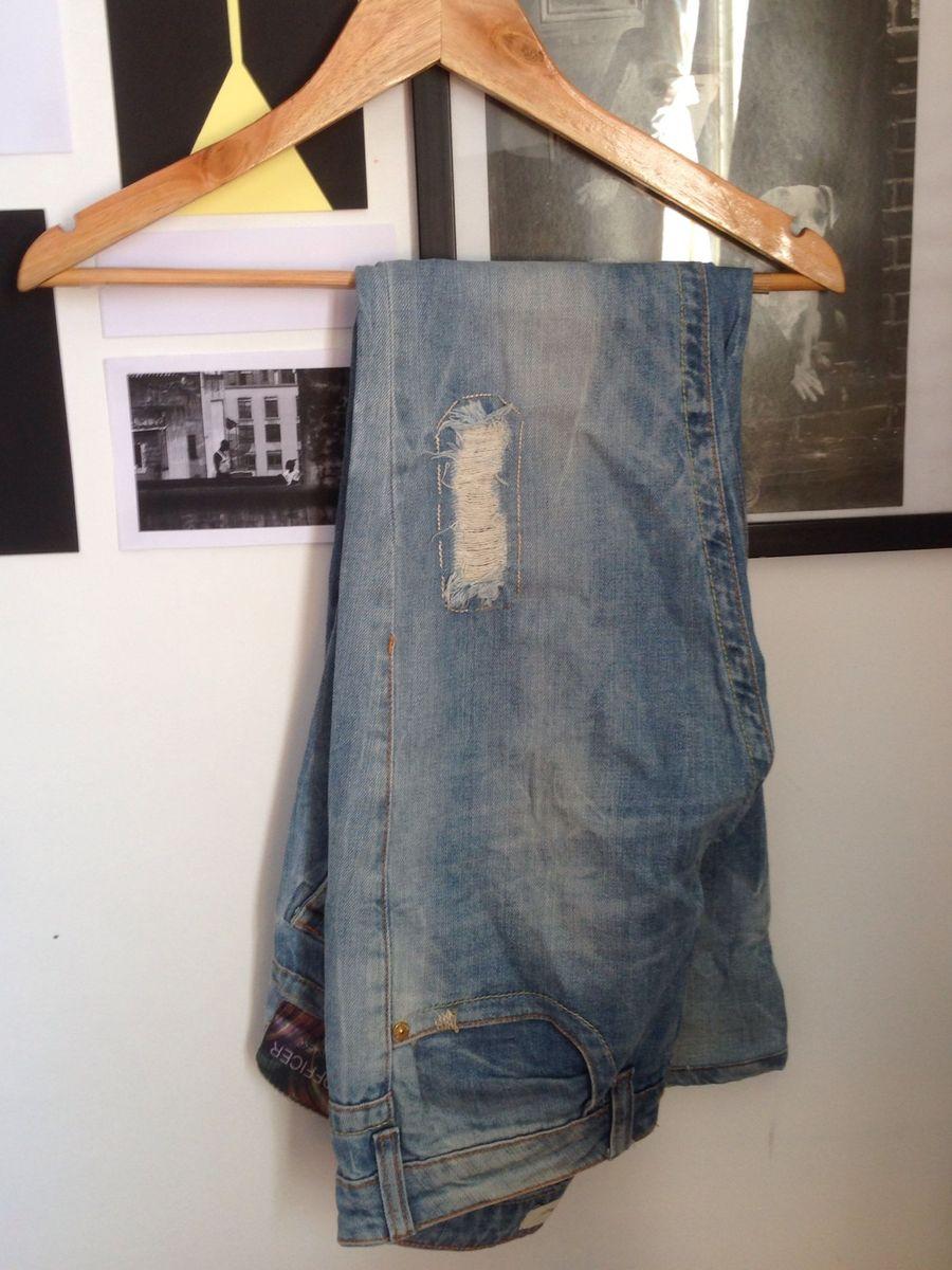ef7787f90 calça jeans rasgada m. officer - calças m. officer