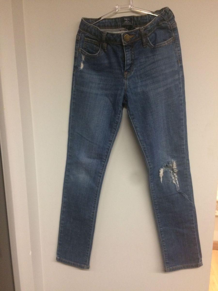 8c715f416 Calca Jeans Rasgada Roupa Infantil Para Menina Gap Kids Usado