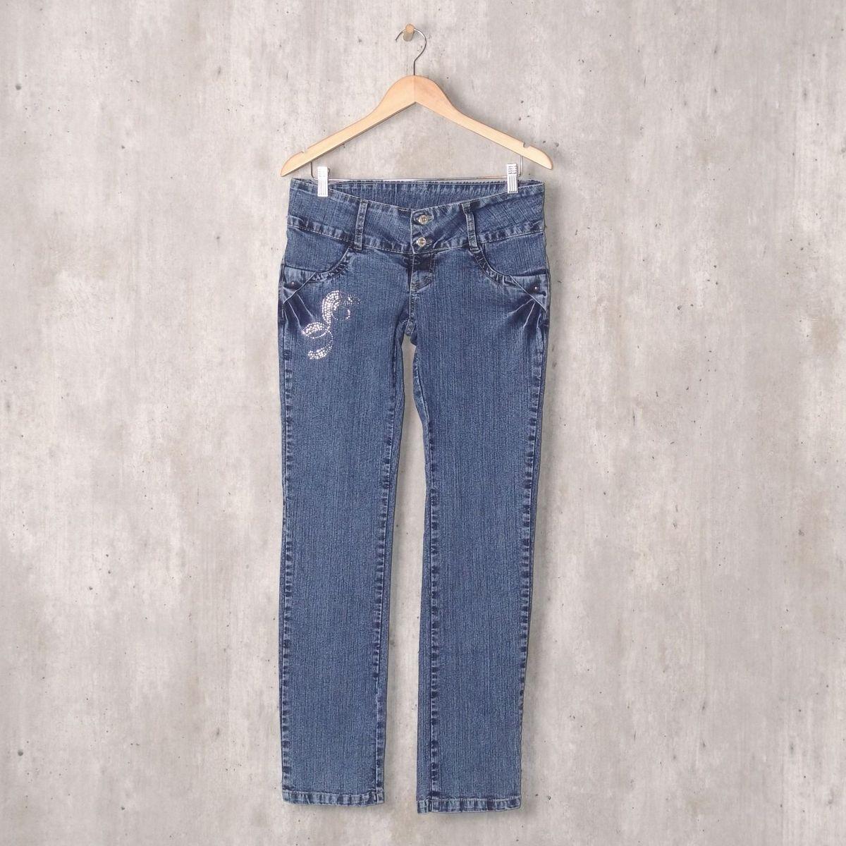 bab3cc9d4 Calça Jeans Vintage Strass | Calça Feminina Etiqueta Urbana Usado 31614430  | enjoei