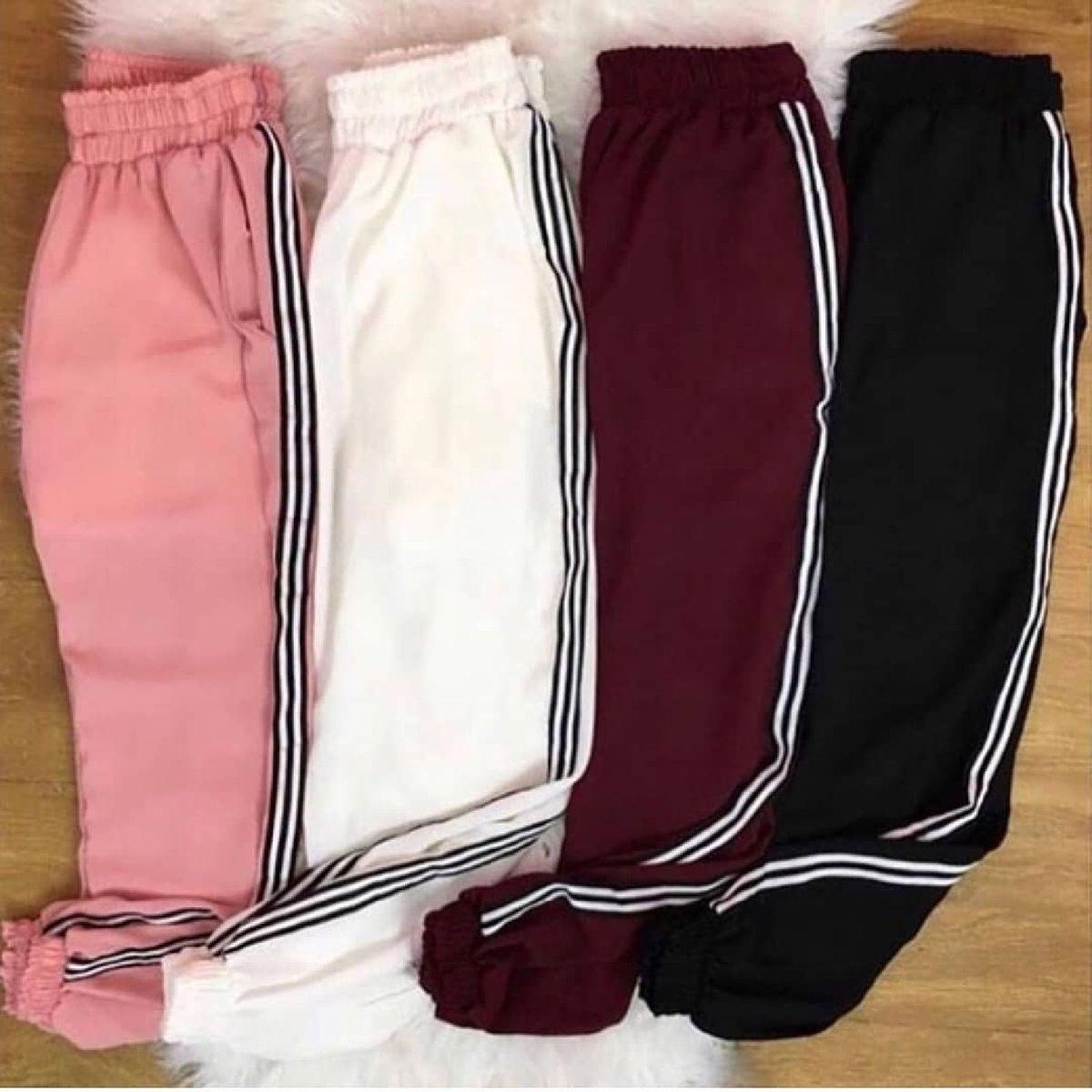 calça jogger listras - calças sem marca