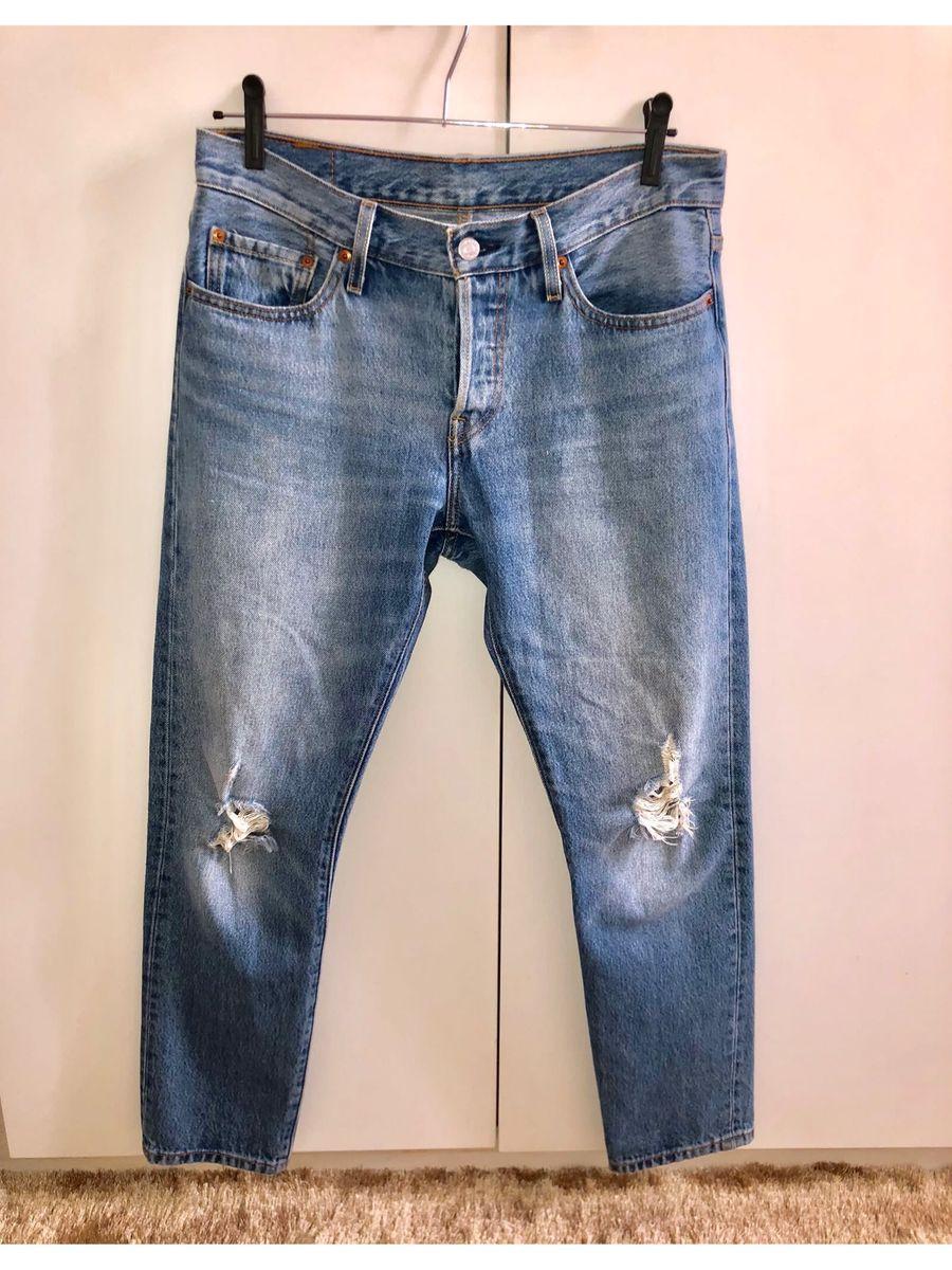 f3ec33b7a calça levis 501 mom classica cintura média mommy fecho botões - calças levis