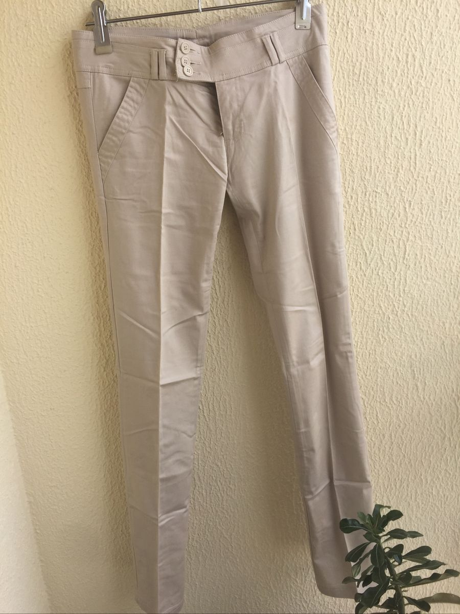 Calça Nude com Elastano | Calça Feminina Usado 32871141