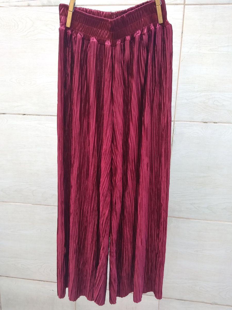 calça pantacourt vermelha - calças sem marca