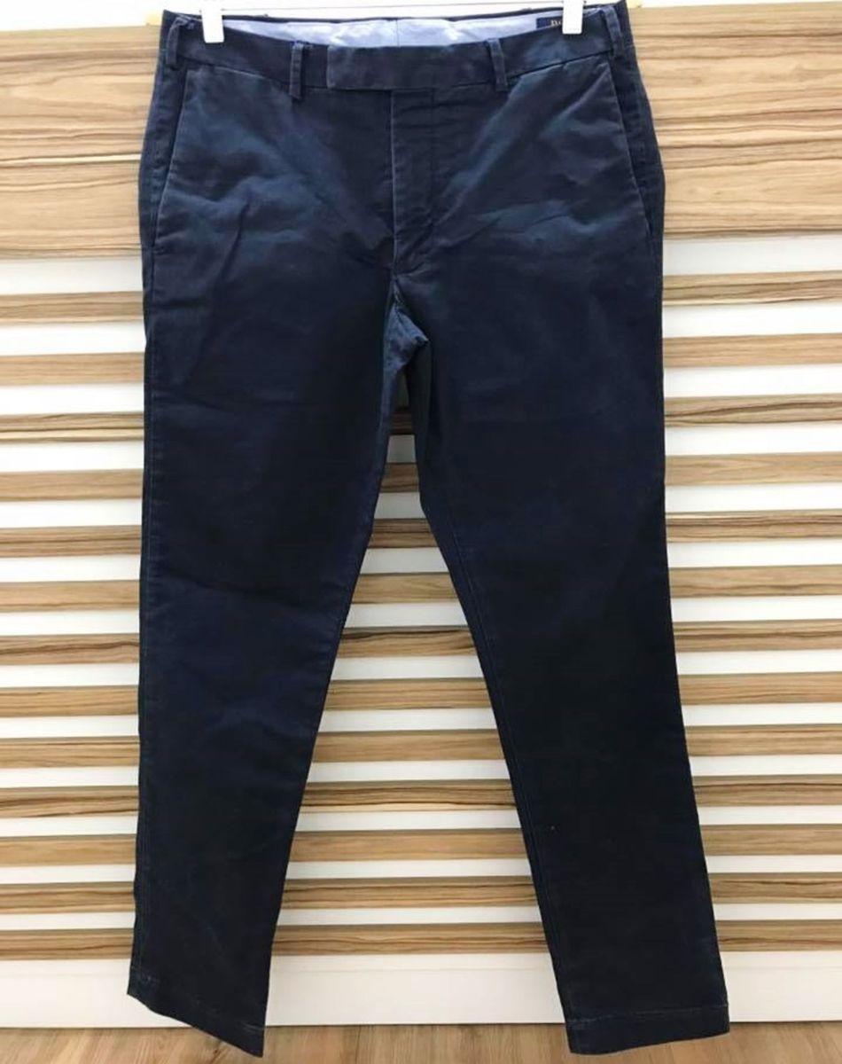 calça ralph lauren de sarja azul marinho - calças ralph lauren 6fe10509439