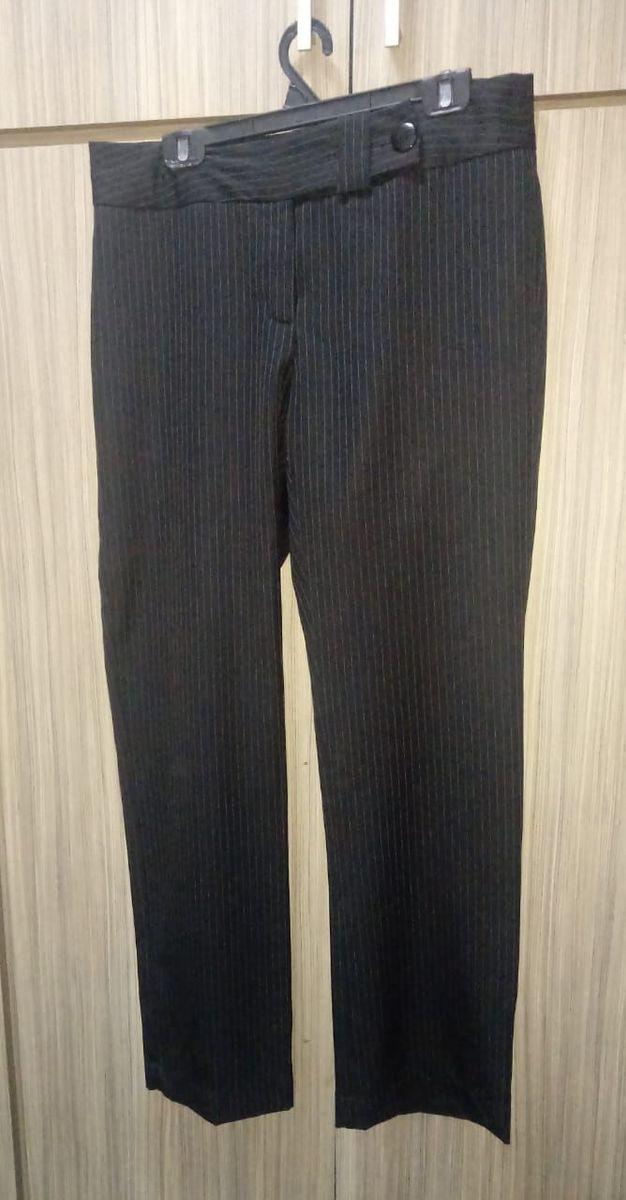 calça social feminina listrada - calças yessica basic