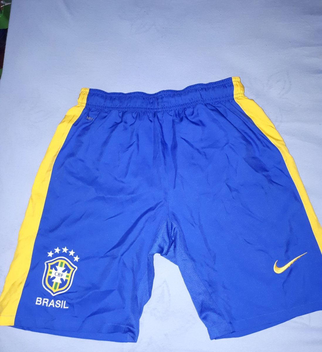 b66dec4456 calção infantil seleção brasileira nike dri-fit 100% poliester
